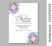 peony fir christmas party... | Shutterstock .eps vector #1151952425