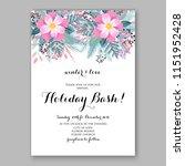 peony fir christmas party... | Shutterstock .eps vector #1151952428