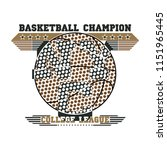 basketball vintage graphic for... | Shutterstock .eps vector #1151965445