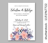 floral wedding invitation... | Shutterstock .eps vector #1151967722