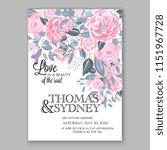 floral wedding invitation... | Shutterstock .eps vector #1151967728