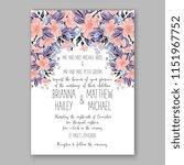 floral wedding invitation... | Shutterstock .eps vector #1151967752