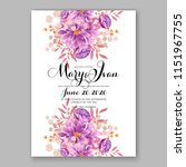 floral wedding invitation... | Shutterstock .eps vector #1151967755