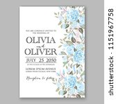 floral wedding invitation... | Shutterstock .eps vector #1151967758