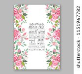 floral wedding invitation... | Shutterstock .eps vector #1151967782