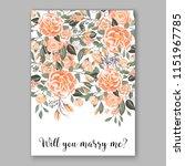 floral wedding invitation... | Shutterstock .eps vector #1151967785