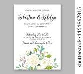 floral wedding invitation... | Shutterstock .eps vector #1151967815