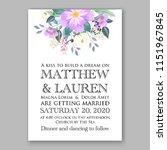 floral wedding invitation... | Shutterstock .eps vector #1151967845