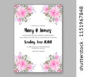 floral wedding invitation... | Shutterstock .eps vector #1151967848