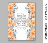 floral wedding invitation...   Shutterstock .eps vector #1151967872