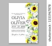 floral wedding invitation... | Shutterstock .eps vector #1151967878