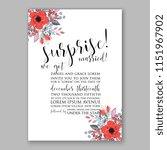 floral wedding invitation... | Shutterstock .eps vector #1151967902