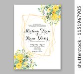 floral wedding invitation... | Shutterstock .eps vector #1151967905
