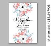 floral wedding invitation... | Shutterstock .eps vector #1151967908