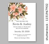 floral wedding invitation... | Shutterstock .eps vector #1151967932