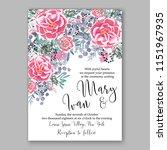 floral wedding invitation... | Shutterstock .eps vector #1151967935