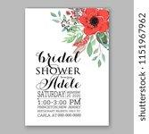 floral wedding invitation... | Shutterstock .eps vector #1151967962
