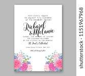 floral wedding invitation... | Shutterstock .eps vector #1151967968