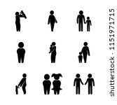 child vector icons set. brother ... | Shutterstock .eps vector #1151971715