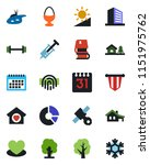 color and black flat icon set   ...