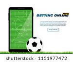 concept for web banner sports... | Shutterstock .eps vector #1151977472