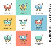 icons shopping cart for the... | Shutterstock .eps vector #1151979698