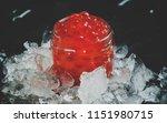 delicious red caviar in a glass ... | Shutterstock . vector #1151980715