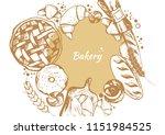 bakery  isolated vector  rolls  ... | Shutterstock .eps vector #1151984525