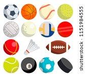 sport balls set vector. round... | Shutterstock .eps vector #1151984555