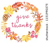 vector thanksgiving card leaf.... | Shutterstock .eps vector #1151990375