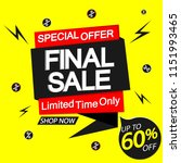 final sale  speech bubble... | Shutterstock .eps vector #1151993465