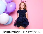 Cute Little Girl With Balloons...