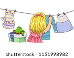 illustration of a kid girl... | Shutterstock .eps vector #1151998982