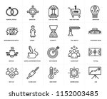 set of 20 icons such as lms ...