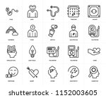 set of 20 icons such as... | Shutterstock .eps vector #1152003605