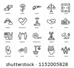set of 20 icons such as people  ... | Shutterstock .eps vector #1152005828