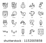 set of 20 icons such as socket  ...