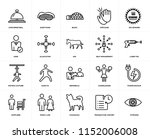 set of 20 simple editable icons ... | Shutterstock .eps vector #1152006008