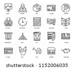 set of 20 icons such as piggy...