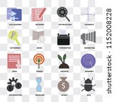set of 16 icons such as bug ... | Shutterstock .eps vector #1152008228