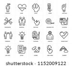 set of 20 icons such as rainbow ...