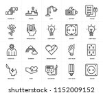 set of 20 icons such as socket  ... | Shutterstock .eps vector #1152009152
