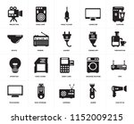 set of 20 icons such as hair...