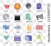 set of 16 icons such as... | Shutterstock .eps vector #1152009725