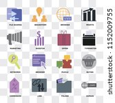 set of 16 icons such as domain  ... | Shutterstock .eps vector #1152009755