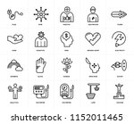 set of 20 icons such as success ... | Shutterstock .eps vector #1152011465