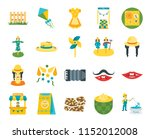 set of 20 icons such as fisher  ...