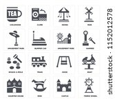set of 16 icons such as ferris...   Shutterstock .eps vector #1152012578