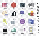 set of 16 icons such as... | Shutterstock .eps vector #1152013115