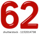 numeral 62  sixty two  isolated ... | Shutterstock . vector #1152014738